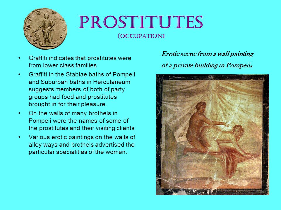 Prostitutes {occupation]